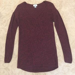 Knitted long sleeve v-neck sweater (XS)
